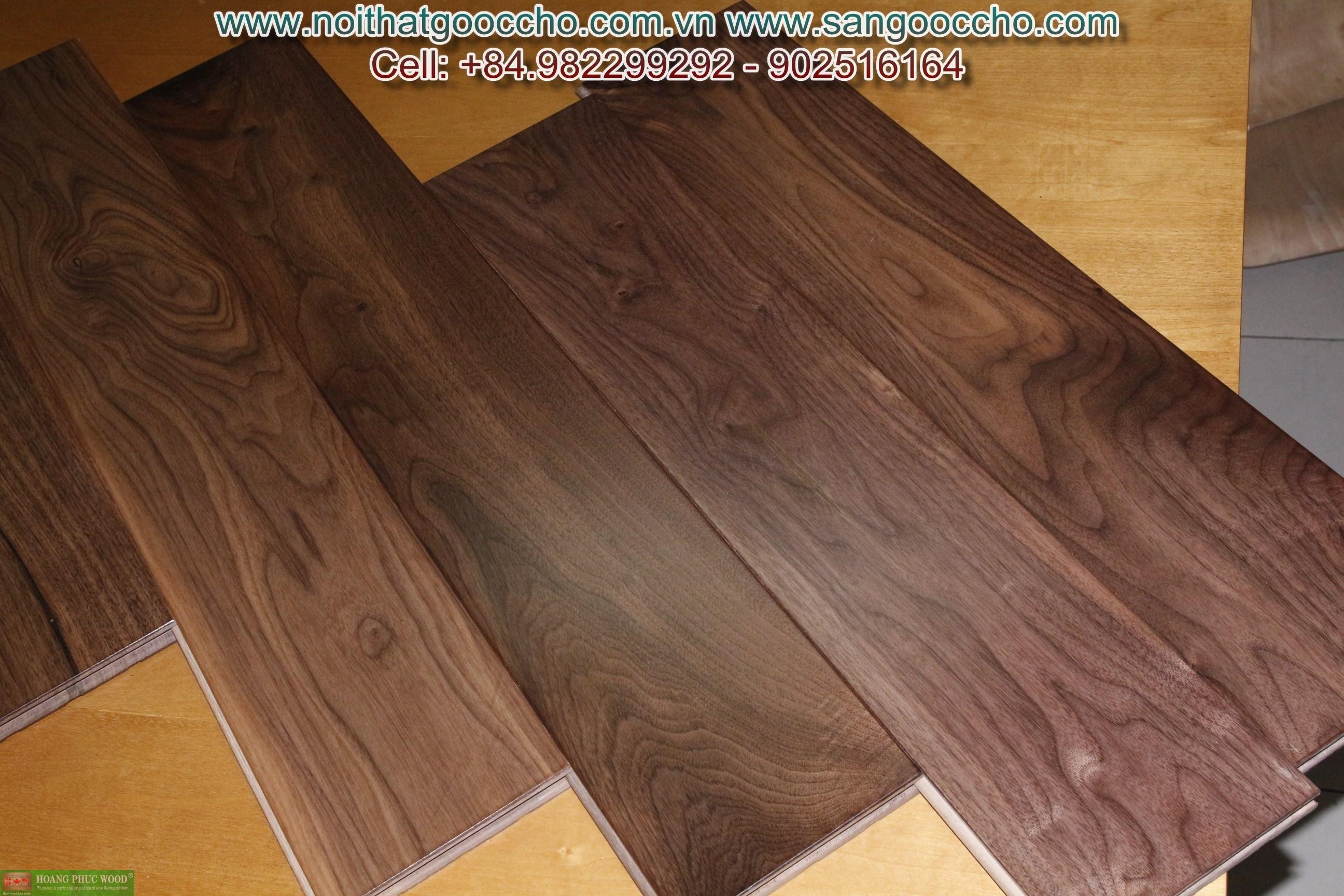 Sàn gỗ Walnut Mỹ
